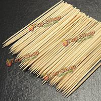 100шт 15см шампуры бамбуковые гриль для барбекю фрукты палку