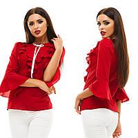 Блуза Материал: креп-шифон ,Цвета: мятный, белый, пудра, красный, бордовый, темно-бежевый Длина: 63см жа № 134