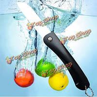 Складывающиеся кухня керамический нож красочные эко-оксид циркония керамический нож фруктов