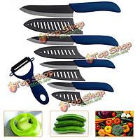 Кухня черный лезвие керамический нож установлен керамический нож синий