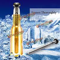 2шт винная палка охлаждения пива нержавеющей стали замороженный кулер сенсационного романа палки
