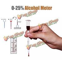 0-25° стекло вино алкоголь метр vinometer концентрация измерительный инструмент
