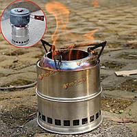 Из нержавеющей стали на открытом воздухе BBQ варочная печь кемпинга горелки пикник туризм приготовления пищи горящая печь