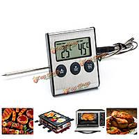 Электрический цифровой термометр пищи BBQ барбекю таймер для кухни выпечки приготовления пищи