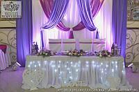 Оформление президиума в цвете фуксия и фиолетовый