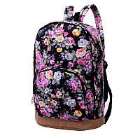 Женский рюкзак с цветами, фото 1