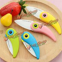 4-цвета складные Mini керамические кухонные ножи похожие на птицу