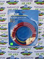 Шланг заправочный для фреона VALUE 1,5 м для R12/22/134 (3 шт)
