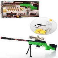 Гелевые пистолеты. Детский автомат 502-1, на подставке, автомат 80 см с водяными (гелевыми) пульками