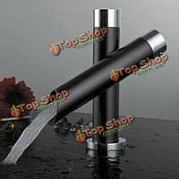 Кухня уникальная единственная ручка черный кран водопада сигнала миксера слива бассейна с ванной ванной