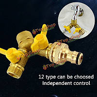 2 путь садовый шланг разделитель y шаровой разъем открытый кран спринклерной системы капельного орошения