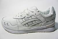 Мужские  кроссовки Asics, кожа, белые, Р. 41 42 43 44 45