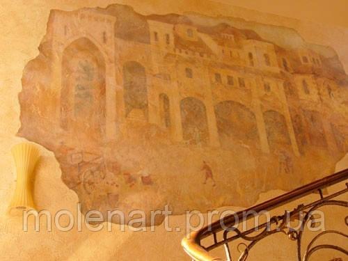 Фактурная штукатурка фрески