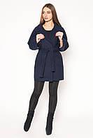Оригинальное женское демисезонное пальто свбодного кроя с отложным воротником салатовое, красное, светлый беж, горчица, темно-синее