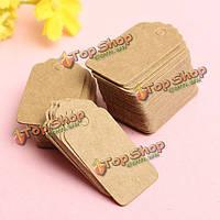 Песок морской гребешок 100 шт крафт-бумага этикетки свадьбу подарок визитных карточек руку нарисовать имя карты