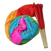 Веер вейл для танца живота разноцветный 1.8м