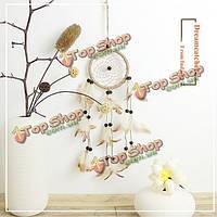 Оригинальные ручной работы натуральные перья Dreamcatcher американские пасторальные подарки висит орнамент декора