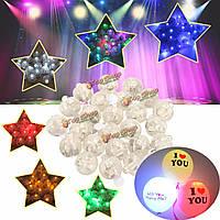 25шт 1.7см круглый LED шар свет лампы светящиеся шар света украшение дня рождения венчания