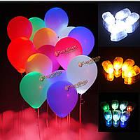 10шт LED Воздушный шар огни лампы бумажные фонарики лампа домашней свадьбы партии декоративные фонари