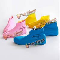 Одноразовые силикагель крышкой дождя обуви водонепроницаемой галоши прочный кейс для хранения обуви пыле