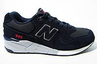 Мужские кроссовки New Balance,кожа/замша, синие