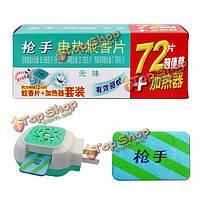 72шт электрических противомоскитные коврики 1шт электрический комаров ладан нагреватель борьбы с вредителями убийца