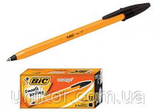 """Ручка кулькова Orange"""", корпус помаранчевий, стрижень чорний. BIC"""