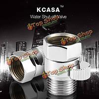 KCASA™ латунь узел регулирования расхода воды клапан-через Прямой запорный клапан угол ванны аксессуар