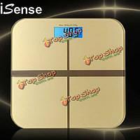 Isense универсальные весы электронные весы цифровые весы жира тела весы для ванной комнаты