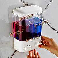 Ванной настенный ручной дозатор мыла пены жидкость лосьон бутылка шампуня гель для душа