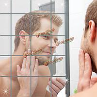 16шт ванной комнаты съёмные самоклеющиеся мозаика зеркало стены наклейки домашнего декора