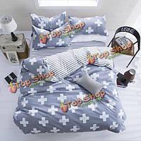 3 или 4шт полиэфирные волокна наборы западного стиля реактивной печати постельные принадлежности наволочка одеяло пододеяльник