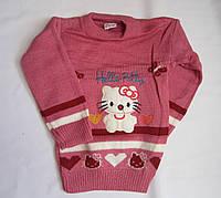 "Детский свитер ""Hello Petty"" на девочку. 3-5 лет. Розовый. Оптом."