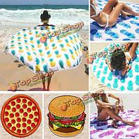 150см пончик пиццы pineaaple печать тонкой лавсан пляжное полотенце шали простыню гобелен