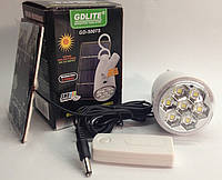 Аккумуляторная лампа с 7 SMD LED GDLITE GD-5007s на солнечной батарее с пультом