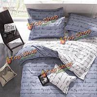 3 или 4шт полиэфирное волокно буквы реактивное крашение постельное белье устанавливает двойной полный размер королева