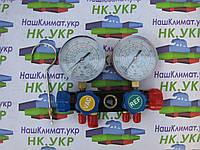Коллектор 2-х вент. с манометром CT-436С (R-404,22,134,407)
