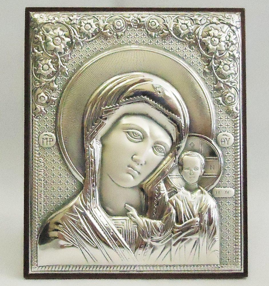 Казанська ікона на дерев'яній основі