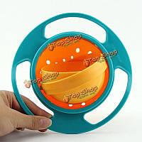 Творческий кормления ребенка чаша игрушка не разлив универсальный гироскопа чаша блюдо 360 вращаются смешной подарок НЛО