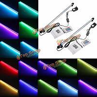 Аквариум водонепроницаемый LED свет бар аквариума погружные светильник лампы AC100-240V 6.5W SMD5050 57см