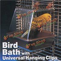 Люкс птица ванна ванна коробка клетка для птицы аксессуар