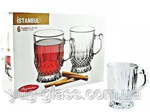 """Набор кружек для чая 65 мл стеклянный """"Istanbul 55871"""" 6 предметный., фото 1"""
