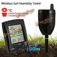 100м беспроводной передачи влажности почвы тестер многофункциональный инструмент измерительный прибор в помещении температура наружного
