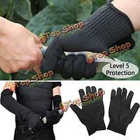 1 пара безопасности стальной проволоки анти-отрезные перчатки садоводство рабочий инструмент защиты на открытом воздухе кемпинга
