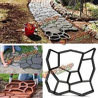 45см DIY пластиковый сад путь мейкера формы вручную проложив цемент кирпич камень дороги вспомогательный инструмент