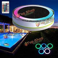 Пульт дистанционного управления солнечной энергии LED красочный бассейн свет сад водонепроницаемый плавающий светильник