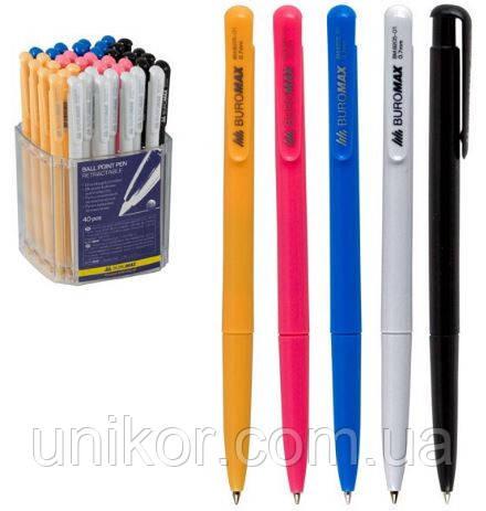 Ручка шариковая автоматическая, BM.8205, корпус ассорти, стержень синий. BuroMax