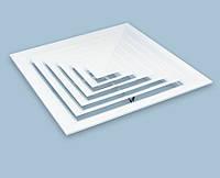 Диффузор потолочный алюминиевый 300х300мм (подключение 150х150)