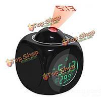 Многофункциональный ЖК-говорящий будильник проекция времени и температуры дисплей