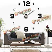 Роскошные поделки 3д настенные часы домашнего украшения зеркал искусства часы